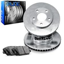 2004-2010 Toyota Sienna Front eLine Plain Brake Disc Rotors & Ceramic Brake Pads