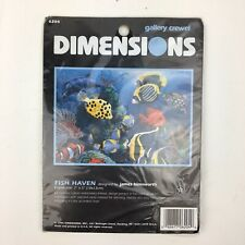 Dimensions 6204 Fish Haven Crewel Kit James Himsworth