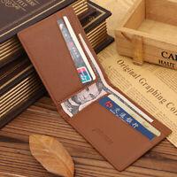 Men's Money Clip RFID Blocking Card Holder  Genuine Leather Slim Billfold Wallet