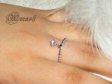Sterling silver Charm ring,wedding eternity,infinity,Cz Swarovski crystal ring