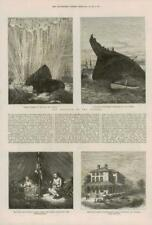 1877 ANTIQUE PRINT-Niagara lac Miss Ryes Home Collision Channel TORPEDO (160)