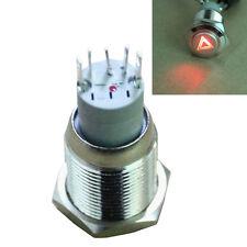 DIY 16mm 12V Lights Push Button Metal Toggle Switch LED Emergency Symbol Sales