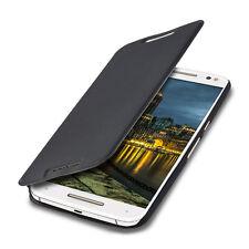 kwmobile Flip Schutz Hülle für Motorola Moto X Style Schwarz Case Kunstleder