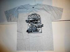 Ford T-Bird Thunderbird, Pontiac GTO, Ford Hot Rod Vintage Gray T-shirt Sz XL