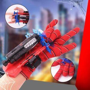 Launcher Toy + FREE Spiderman Costume Gloves Spider-Man Web Shooter Dart Blaster