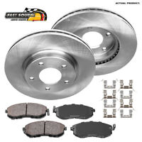 Front OE Disc Brake Rotors & Ceramic Pads For 2014 2015 2016 2017 Nissan Sentra