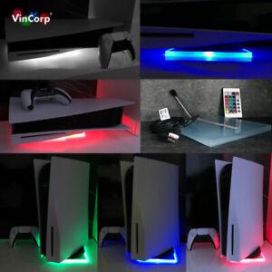 Wifi RGB LED USB Base Supporto Piedistallo Per PLAYSTATION 5 PS5 Disco &