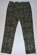 Ladies ADAM LEVINE The Boyfriend Camouflage Camo Chino Casual Pants 3/4 x 29 NWT