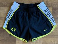 Nike Dri-fit University of Oregon Ducks Athletic Shorts Women's SMALL Black EUC!
