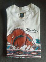 Vintage 93s Lifestyles Hominy Oklahoma T Shirt Native American Print Size Md