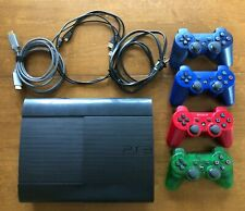 Sony Playstation 3 (PS3) Super Slim 500GB Console with Controllers/Games/Cords