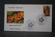 Polynésie française Enveloppe 1er  jour 1971 JOURNEE DES MILLE FLEURS