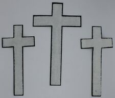 Chenille Patch: Three Crosses