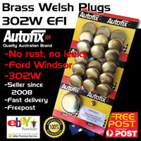 New Brass Welch Welsh Freeze Core Plug Set Gallery 302W Fits Ford Windsor EFI