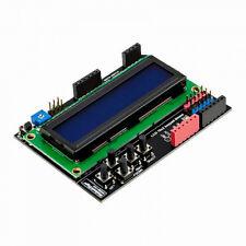 LCD Keypad Shield, 1602 Display For Arduino Uno, Mega 2560 - Blue / White - USA