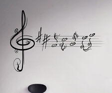 Music Treble Clef Vinyl Decal Vinyl Stickers Home Art Interior Window Sticker 11