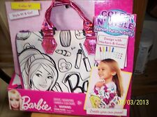 BNIP Barbie Color 'N Style Fashion Purse Activity -With Markers And Gems-