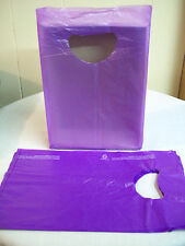 "100 Bags 7 x 3 x 12"" Purple Plastic Merchandise Bags with Handles New"