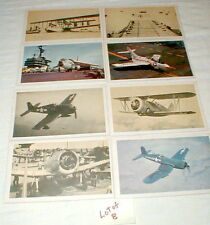 American Heritage Airplane Picture & History Cards Vintage 1903-- 1961  LOT of 8