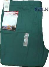 Dickies 874LN Plain Front Twill Pants Lincoln Green   Big and Tall  W 60  L 30