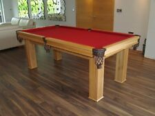 New Alliance 'Aughton' Pool / Snooker Table in Solid Oak