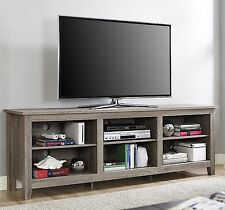 "70"" TV Stand Entertainment Center Rustic Wood Storage Furniture Media Console"