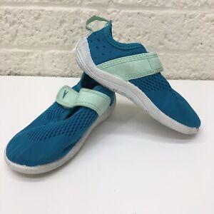 NEW‼ Kids Speedo Aqua Blue Teal Mesh Water Shoes Sz.M 7/8 • VGUC‼ • FREE S/H‼