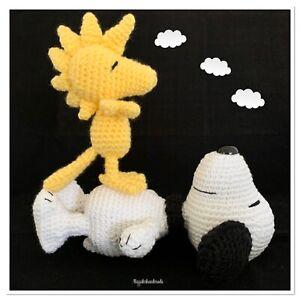 Handmade crochet Snoopy Woodstock Toys