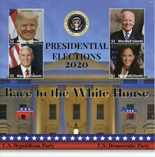 More details for marshall isl us presidents stamps 2020 mnh elections donald trump biden 4v m/s i