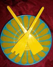 """Sunflower Melamine Salad Bowl Set Made in Japan - Signed 9 1/2"""" X 2 3/8"""""""