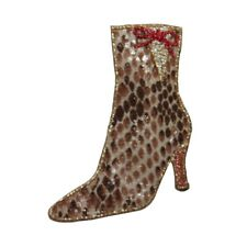 ID 7918 Snake Skin Boot Patch High Heel Fashion Shoe Embroidered IronOn Applique