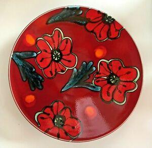 Poole Pottery Salt Glaze Shallow Bowl Poppyfield Pattern