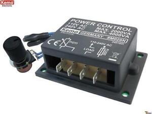 Leistungsregler 110 - 240 V/AC 4000 VA M028N Kemo B-Ware / Alte Version
