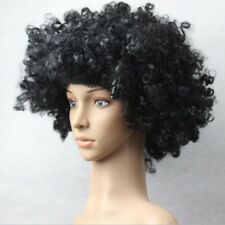 Vintage Afro Wig Fancy Dress Curly Funky Disco Clown Men Ladies Costume Hair LAU