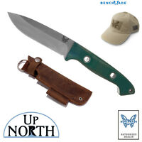 BENCHMADE KNIFE 162 BUSHCRAFTER SIBERT FIXED Blade FREE HAT