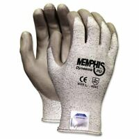 Memphis Dyneema Dipped Safety Gloves - Large Size - Polyurethane Palm - Gray -