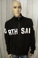 NORTH SAILS Uomo Felpa Maglione Sweatshirt Man Maglietta Nero Shirt Taglia XL