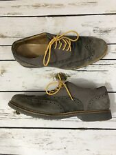 Cole Haan Great Jones Men Gray Suede Wingtip Brogue Oxford US 9.5 C12153