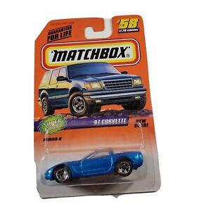 Matchbox Super Cars Series 8 #58 '97 Chevy Corvette New Diecast 1/64 Blue