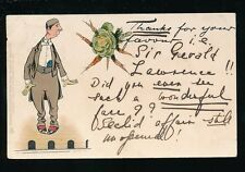 Stage TUCK Write Away Series130 Theatre Man with vegetables 1903 u/b PPC