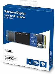 WD Blue SN550 1TB High-Performance M.2 Pcie NVMe SSD, NEW, Lowest £ WDS100T2B0C