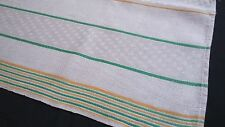 old linen kitchen Towel Runner with rare yellow and green stripes