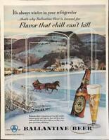 ORIGINAL 1953 Ballantine Beer Print Ad It's Always Winter in Your Refrigerator