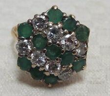 Emerald and Diamond 18 Carat Gold Ring Circa 1940s