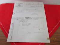 Antiquare Invoice From A.Ostermaier From Estate Storm Riedlingen From 1907/S107