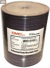 100-Pak CMC PRO (TY Technology) 16X White Inkjet Hub DVD-R w/ Scratch Protection