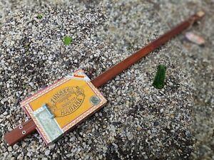 CIGAR BOX GUITAR - 2  STRING- DIDDLEY BOW- CRAFTED BY SALTY DOG CBG-FREE SLIDE