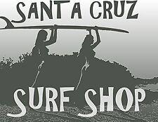 "Santa Cruz California, SURF SHOP POSTER, Surfing Girls w Board 20""x16 CANVAS ART"