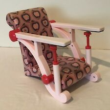 Battat Clip On Chair Seat American Girl Doll And Bitty Baby Pink Apple Design