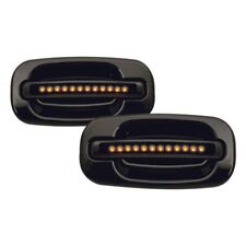 For Chevy Silverado 1500 99-06 IPCW Rear Black Door Handles w Amber LEDs